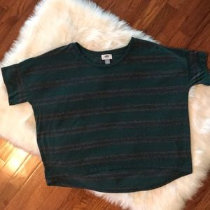 Old Navy Oversized Striped Crop T-Shirt. Size: S